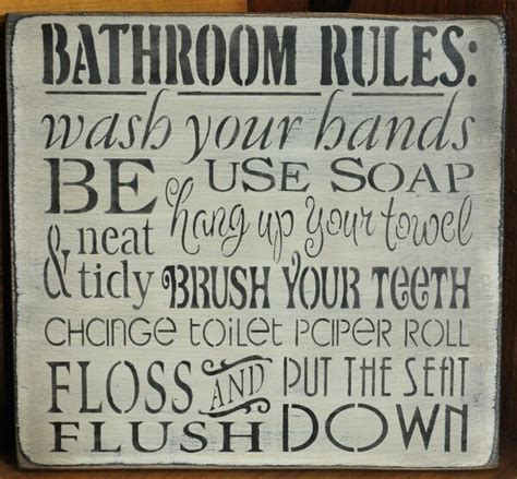 bathroom rule bathroom rules bathroom ideas pinterest