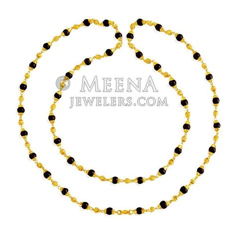gold mala pattern 22 karat gold brown tulsi mala chlo20816 22k gold mala