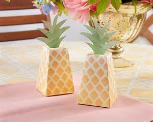 Pineapple Favors by Pineapple Favor Box Set Of 24 Favor Boxes Favor