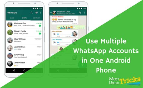 run multiple whatsapp accounts in one android phone use two whatsapp accounts on one android phone most