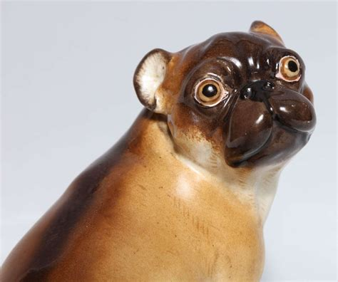 early pugs early 1800s meissen porcelain of pug and puppy modeled after j j kandler for