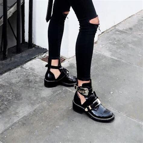 35 balenciaga shoes cutout leather creeper boots size 5 poshmark