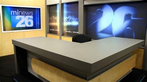News Studio Desk by Michigan Station Mi News 26 Debuts New Set Newscaststudio