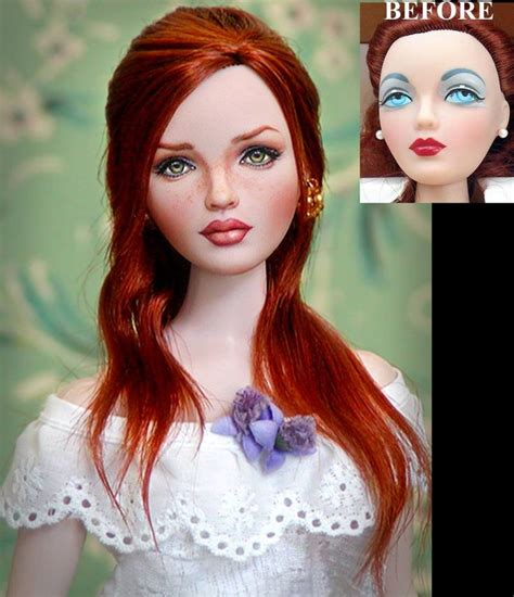 Makeup And Hair Style Doll by Hair And Make Up Style Custom Doll Repaint And