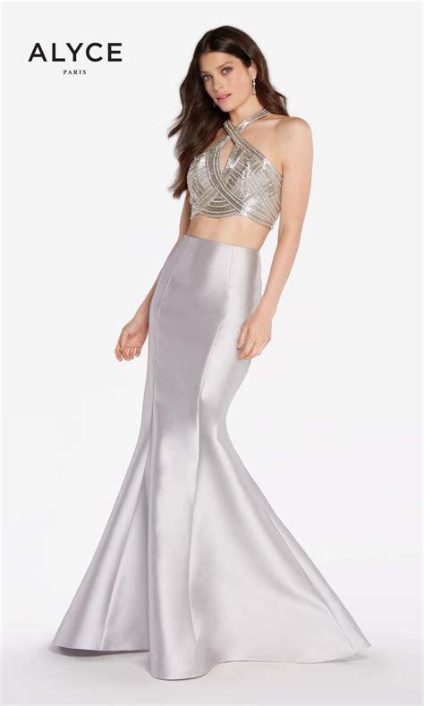 alyce prom 2016 dresses newyorkdress alyce paris 60216 two piece trumpet prom dress french novelty