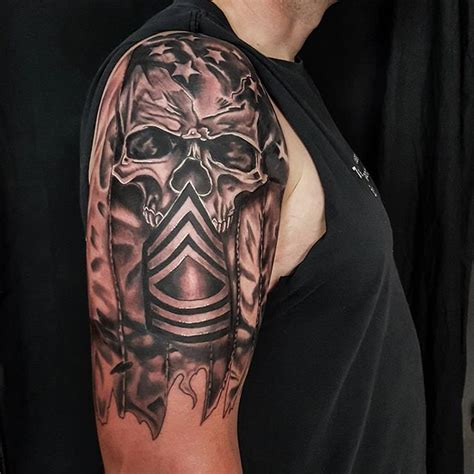 tattoo 3d vietnam right shoulder combat vet 3d tattoo veteran ink