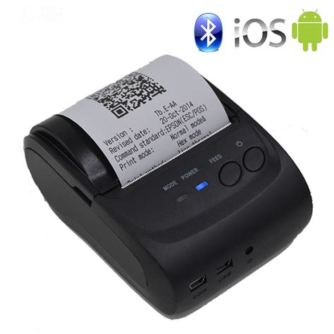 android printer 58mm portable mobile printer wireless bluetooth printer mini thermal printer support android