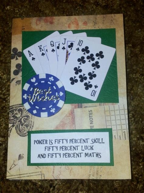 birthday card   poker player parties poker game