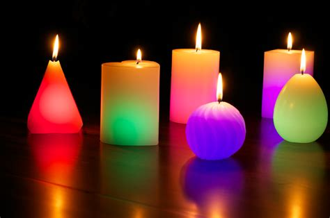 candele colorate glo wax colour changing dreaming led magic candle