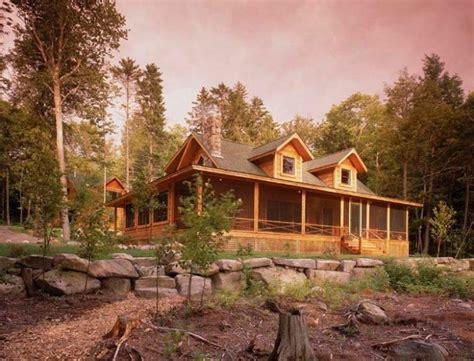 Landscape Timbers Maine Custom Cape Cod Log Home Tour Timberhaven Log Timber Homes