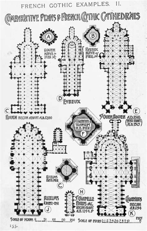 floor plan of gothic cathedral comparative plans of french gothic cathedrals a history of