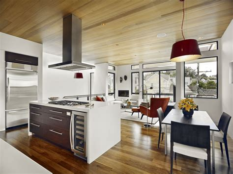 Interior Of Kitchen Interior Exterior Plan Kitchen Interior Theme In Wooden And White Finish