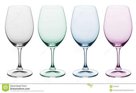 colored wine glasses plain colored wine glass stock image image of