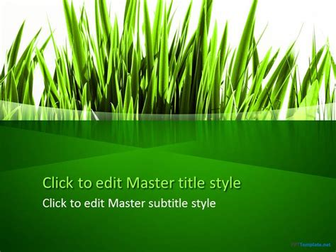 free green grass ppt template