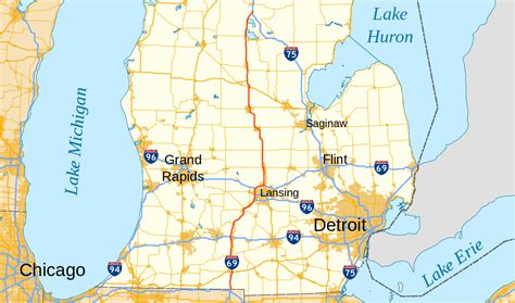 what us scow show map of us 23 michigan cdoovision