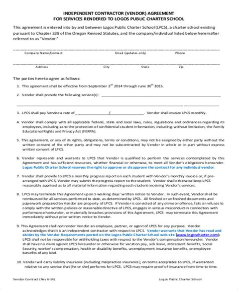 vendor contract agreement supply agreement template