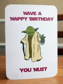 wars printable birthday card yoda card by elletoppdesignworks