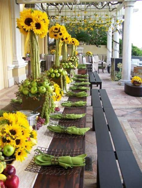 sunflower wedding decorations beautiful flowers and unique sunflower wedding decorating ideas