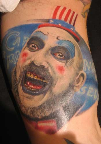 captain spaulding tattoo worldwide conference horror tattoos page 1