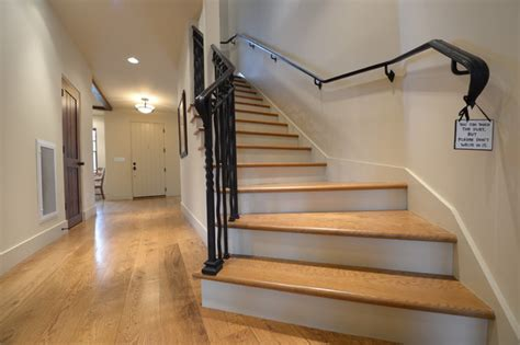 Well Designed Kitchens by White Oak Hardwood Floor And Stairs