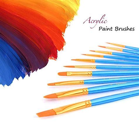acrylic paint kl paint brush set acrylic xpassion 10pcs professional paint