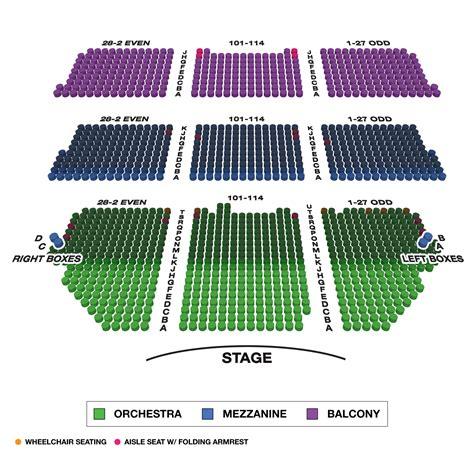 shubert theatre large broadway seating charts