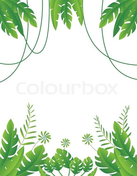 Poster Daun Suplir tropical leaf background stock vector colourbox