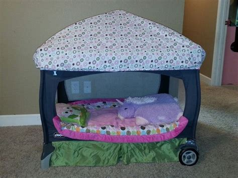 pack and play bed i made amelia s pack n play into a toddler bed that she loves i cut the mesh out of