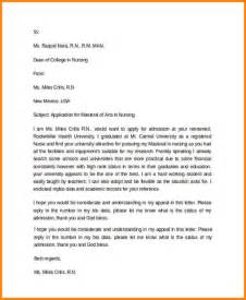 College Admission Appeal Exle 8 How To Write A College Application Letter Resumed