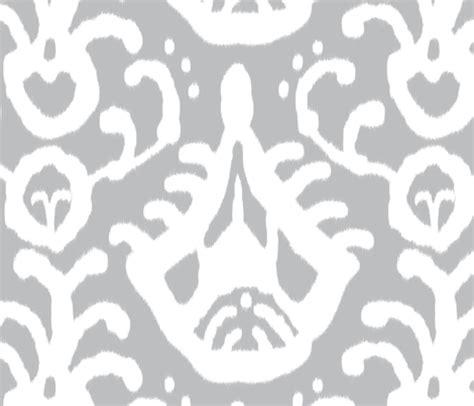 Scarla Ikat gray ikat fabric domesticate spoonflower