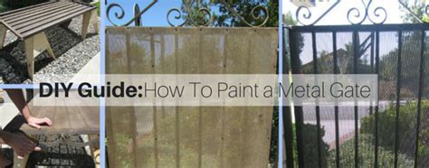 How to Paint a Metal Gate   A DIY Guide