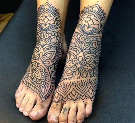 mandala foot tattoo 4 beautiful mandala tattoos on