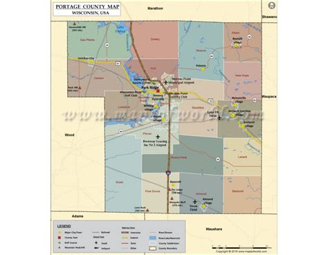 Portage County Search Buy Portage County Map