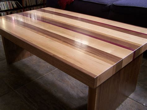 custom coffee table handmade striped coffee table by american woodworks