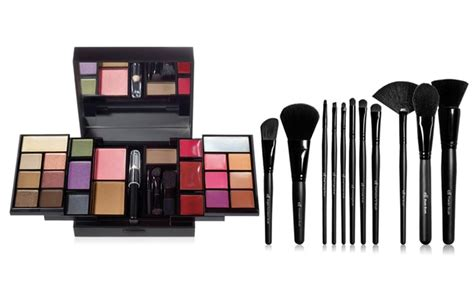 Offers For You Lipstick Powder N Paint by E L F Cosmetics Makeup Palette And Brush Set Groupon