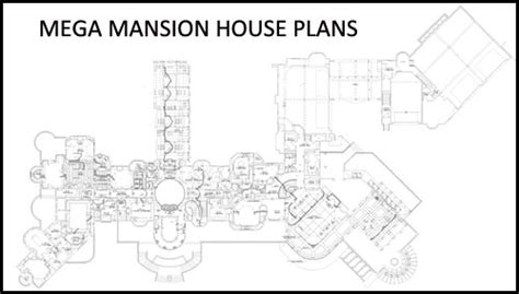 mega mansion floor plans mega mansion house plans