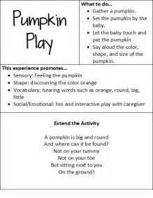 at play with baby pumpkin play teach preschool