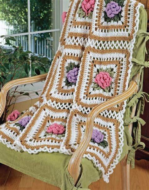 cabbage rose ripples afghan set crochet pattern maggie
