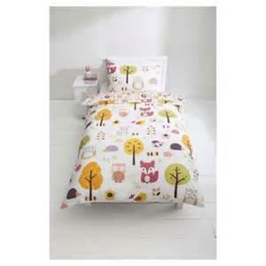 Tesco Cot Duvet Buy Kids 100 Cotton Woodland Print Duvet Set Single From