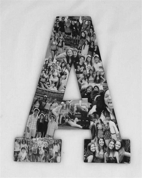 Handmade Photo Collage - professional custom photo collage letter gift