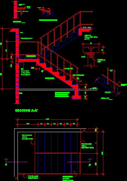 stair section dwg u shaped staircase dwg plan for autocad designs cad