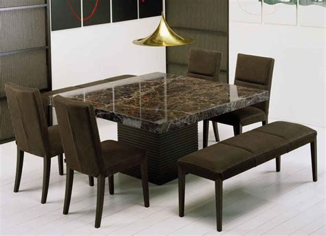 marble dining table with bench get extraordinary fashionable look with 2017 marble dining