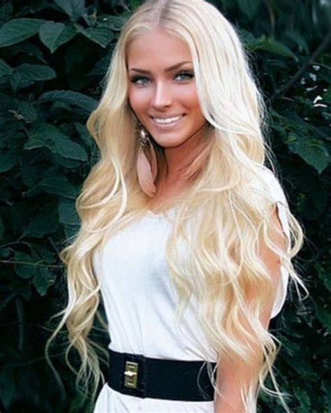 60 With Long Blonde Hair | luxura locks clip in extensions platinum blonde 60 get