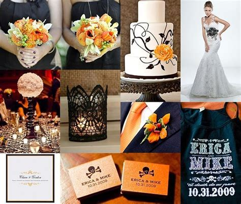 GSS Wedding Inspiration Board :: Orange & Black