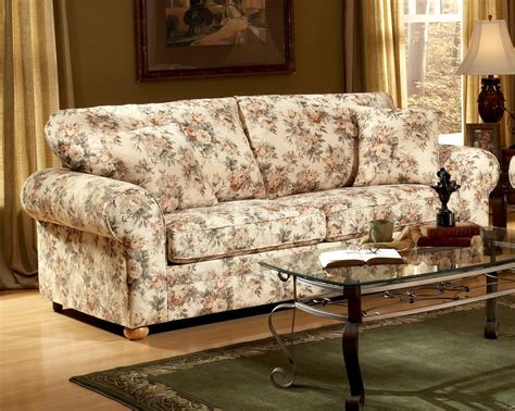 floral living room furniture living room floral sofas and loveseats ideas with table
