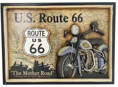 route 66 home decor u s route 66 quot the mother road quot motorcycle wall plaque