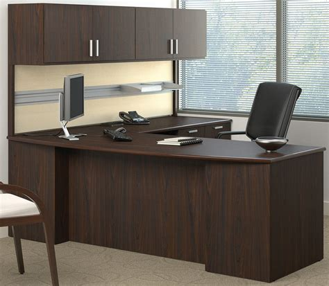 methods custom 84 quot managers l desk w wall mounted hutch