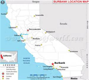 where is burbank california on the map where is burbank california