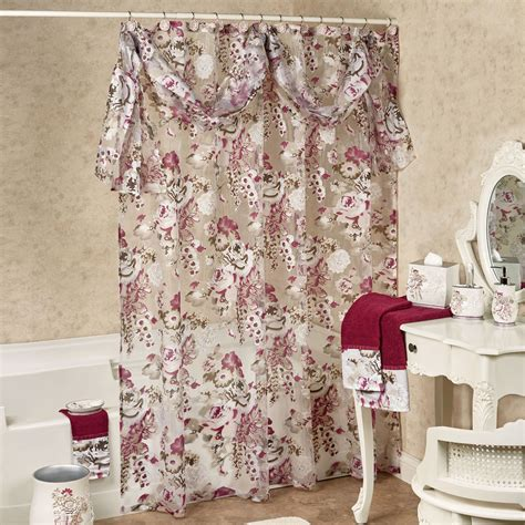 sheer shower curtains secret garden semi sheer floral shower curtain