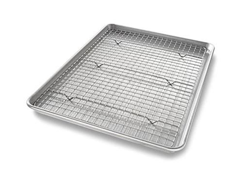Silicone Cooling Rack by Usa Pan Bakeware Quarter Sheet Baking Pan And Bakeable